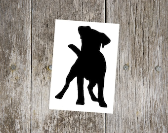 Jack Russell Terrier v1 Dog Breed Silhouette Custom Vinyl Decal Sticker - Choose your Color and Size