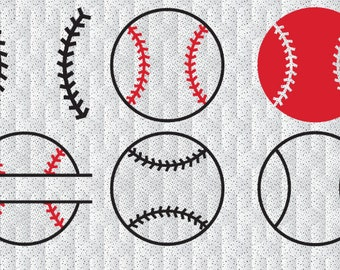 Baseball cut svg files, SVG print and cut baseball monogram, baseball balls svg cutting files dxf baseball