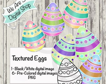We Are 3 Digital Shop, Textured Eggs, Digital Stamp, Spring, Easter