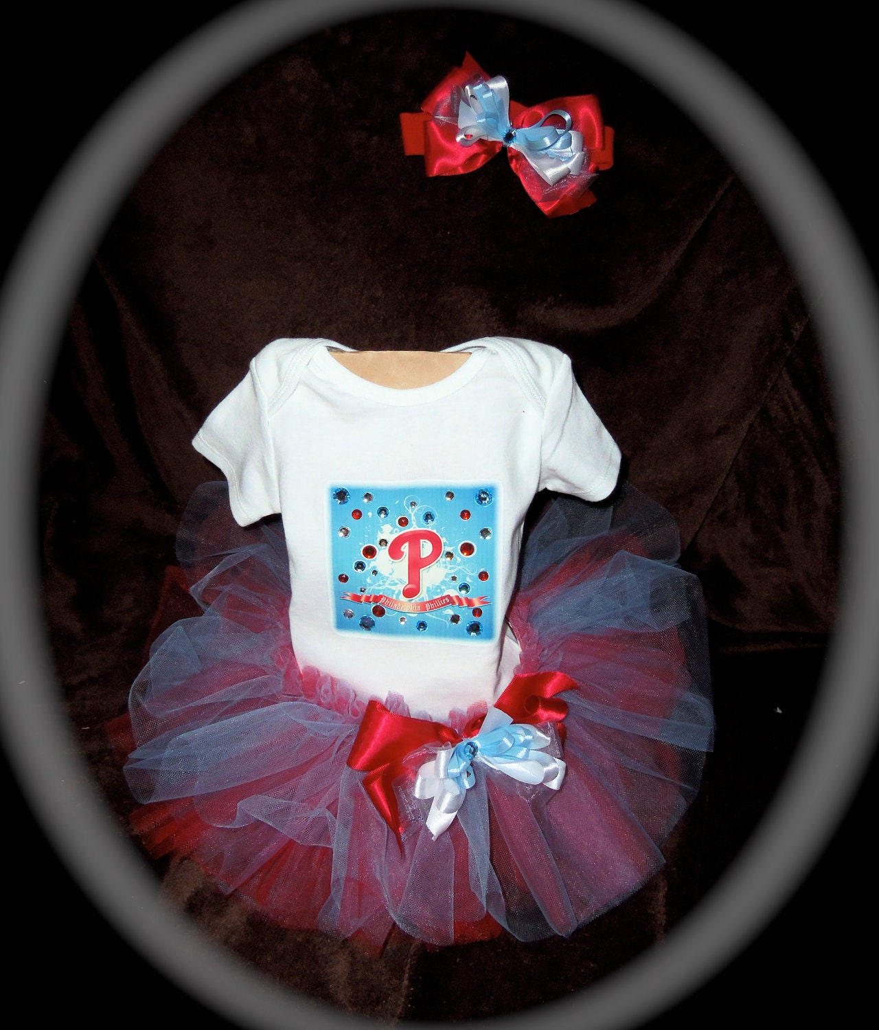 904a62583 Pageant boutique infant 3pc tutu set Phillies red blue and