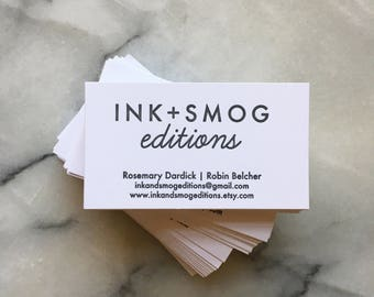 Personalized Business Cards, one side in black