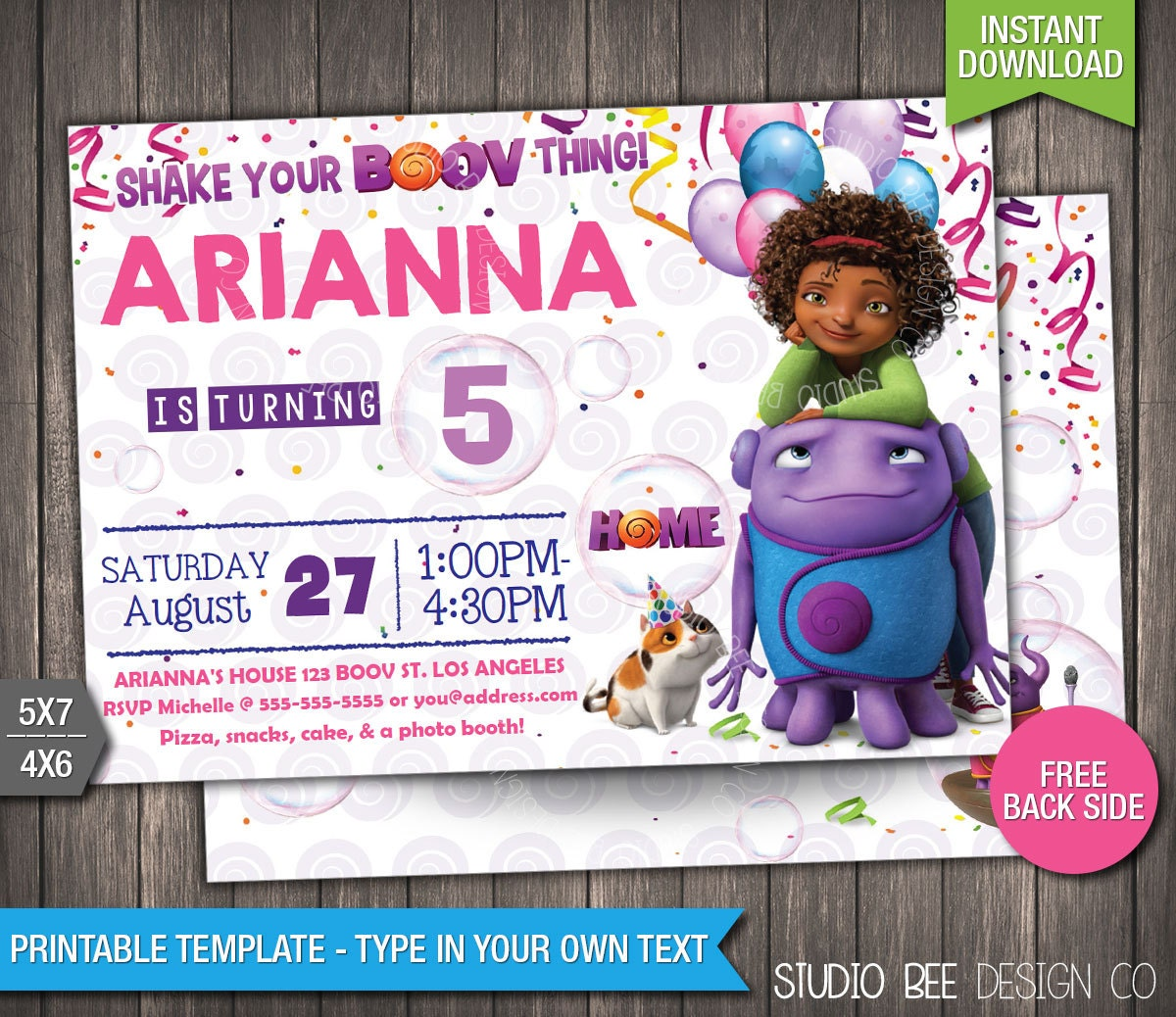 print at home party invitations - Leon.escapers.co