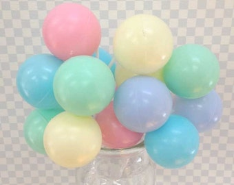 3 Large Pastel Balloon Cupcake Picks Cake Toppers