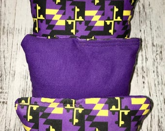 Maryland/Ravens corn hole bags