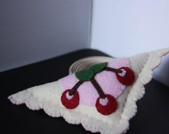 Handmade pincushion, cherry turnover pincushion, sewing notion, sewing gift, pin cushion, stocking stuffer