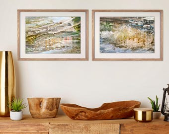 Pastel wall art set, 2 large prints artwork abstract Gallery art set of abstract watercolor print set of 2 Petersburg Russian art Home decor