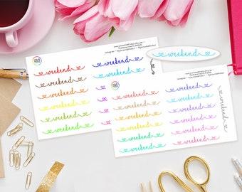 Weekend Planner Stickers for Erin Condren Life Planner, Kikki K, Happy Planner, Schedule or Filofax Planner and more!