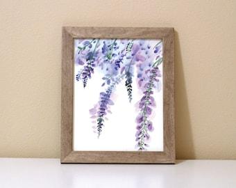 Lavender Flower Watercolor Painting