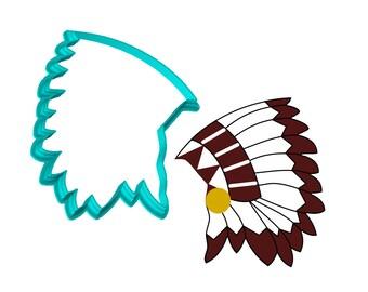 Indian Headdress Cookie Cutter