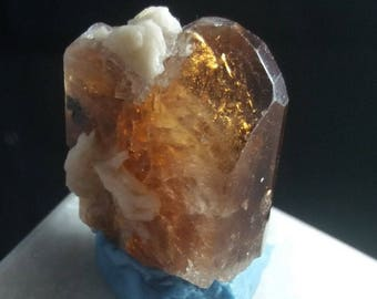 131 carat Well Terminated imperial topaz crystal   from Pakistan