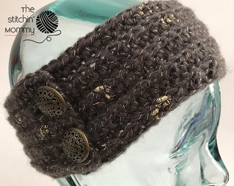PDF Crochet Pattern - Exquisitely Yours Winter Headband in 3 Adult Sizes