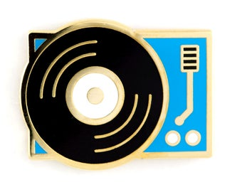 Vinyl Record Player Enamel Pin
