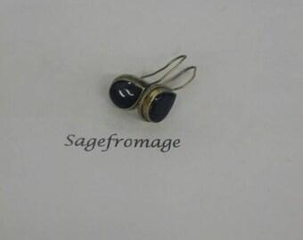 black and  Silver pierced Earrings