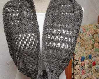 Pattern Lace Cowl knit in the round Lace Cowl Pattern
