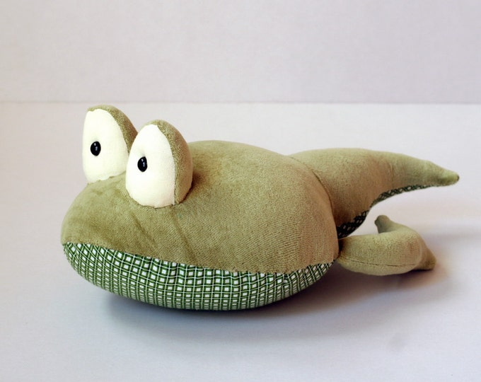 Moss Green Tadpole stuffed plush toy