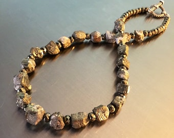 Fool's Gold Nugget Necklace