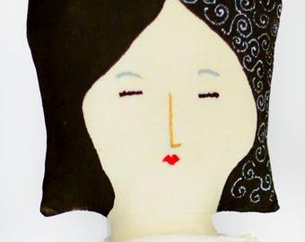 Keiko, a handmade linen doll