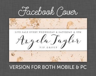 Shop Facebook Cover, Facebook Timeline, Rose Gold, Facebook Business