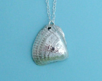 Silver Shell Necklace Pendant