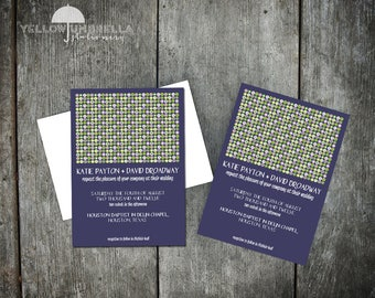 Modern Circle Wedding Invitation with Envelope - 5x7