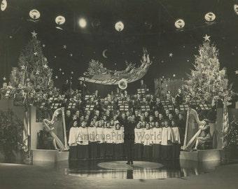 Christmas military choir harp vintage music photo
