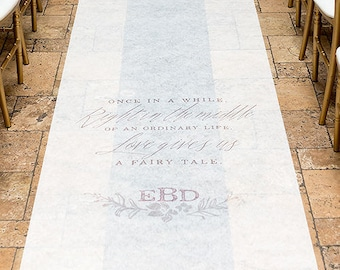 Modern Fairy Tale Personalized Aisle Runner Wedding Ceremony Decoration