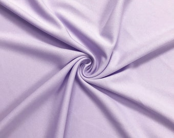 Lilac Light 60'' Solid Stretch Scuba Knit Fabric by the Yard - Style 3044