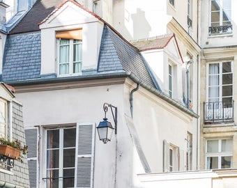 Paris Photograph - Buildings in the Marais, Classic Paris Buildings, Architectural Fine Art Photograph, Urban Home Decor, Wall Art