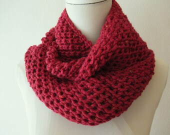 Long Cowl Burgundy