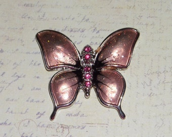 Pink Butterfly Decorative Magnet