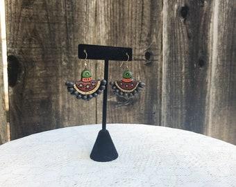 Wood Painted Earrings