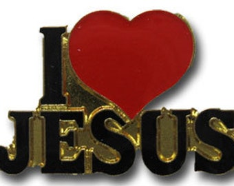 I Love Jesus Lapel Pin