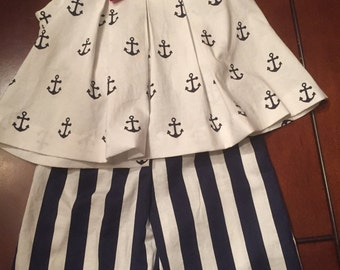 Toddler girl's sailor outfit