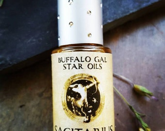 SAGITARIUS Zodiac Star Oil // Astrology Aromatherapy for the Fire Sign Sagitarius  - The Archer// Essential Oil Perfume