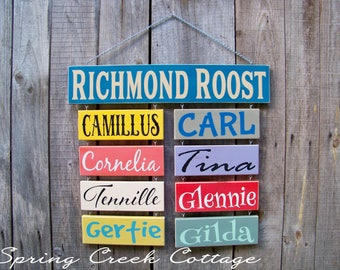 Chickens, Personalized Signs, Chicken Signs, Name Signs, Barn, Wood Signs, Duck, Chickens, Rustic, Handpainted, Farm, Chicken Coop Decor