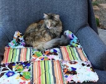 Pet Furniture Cover,Cat Bed, Cat Blanket, Cat Quilt, Travel Pet Blanket, Pet Bedding, Pet Supplies, Luxury Cat Bed, Handmade Pet Blankets