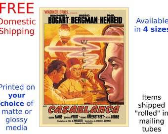 Vintage Movie Poster Film Lobby Card Print - Casablanca #4 - Humphrey Bogart, Ingrid Bergman (491993524)