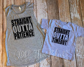Straight Outta Timeout Little Kids TShirt