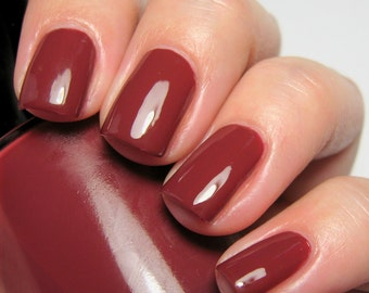 Don't Stand So Close to Me - 15 ml - dusty burgundy creme - indie polish by ALIQUID Lacquer