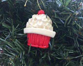personalized original cupcake ornament, bakery ornament, cupcakes