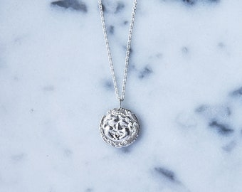 Medusa Coin Sterling Silver Necklace