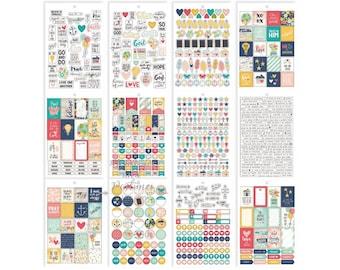 Faith Sticker Tablet - Bible Journaling - A5 Planner Sticker - Christian Sticker - Devotional Sticker - Carpe Diem - Simple Stories - 331214