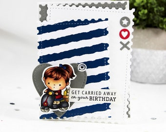 Get Carried Away On Your Birthday Greeting Card