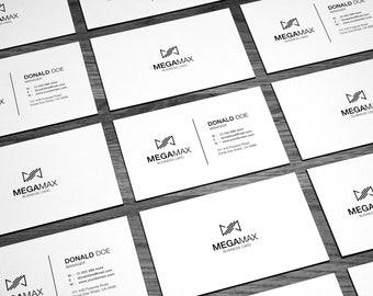 Black & White Minimal Business Card