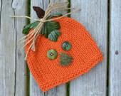 VENTE nouveau-né citrouille chapeau bébé PHoTO PRoP RTS Orange citrouille Beanie récolte Cap HaLLoWEEN CoSTuME BeANiE douche cadeau CoMiNG HoME chapeau garçon fille