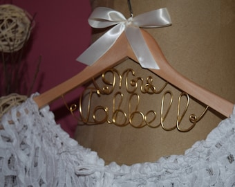"Bridal Hanger ""Mrs""on the Top for your wedding pictures,Personalized custom bridal hanger,Wedding hanger,Bridal hanger,Bridal dress hanger"