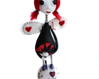 Goth Angel - Angel Art Doll - Gothic Angel - Tim Burton Inspired - MADE TO ORDER