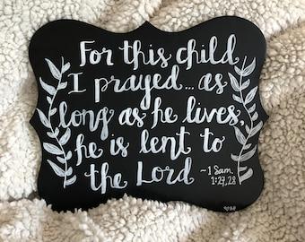 1 Samuel 1:27 Chalk Art
