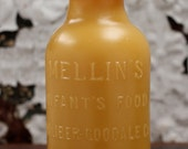 """Beeswax Candle - antique bottle shaped - """" INFANT'S FOOD"""" - by Pollen Arts - Md."""