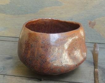 Match Aschale, Chawan, tea bowl, Tenmoku-glaze, handmade, stoneware, Wabisabi
